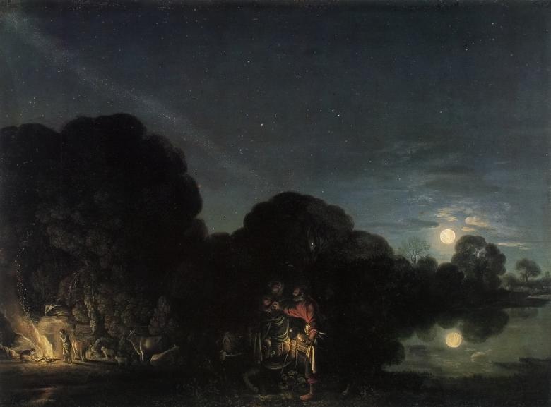 Adam Elsheimer. Flucht nach Ägypten. 1609 Alte Pinakothek, München.