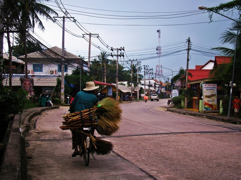 Nicht immer geht es auf asiatischen Straßen so gemütlich zu wie hier.