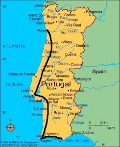 Angefangen im Süden in Faro über Lagos nach Sagres.