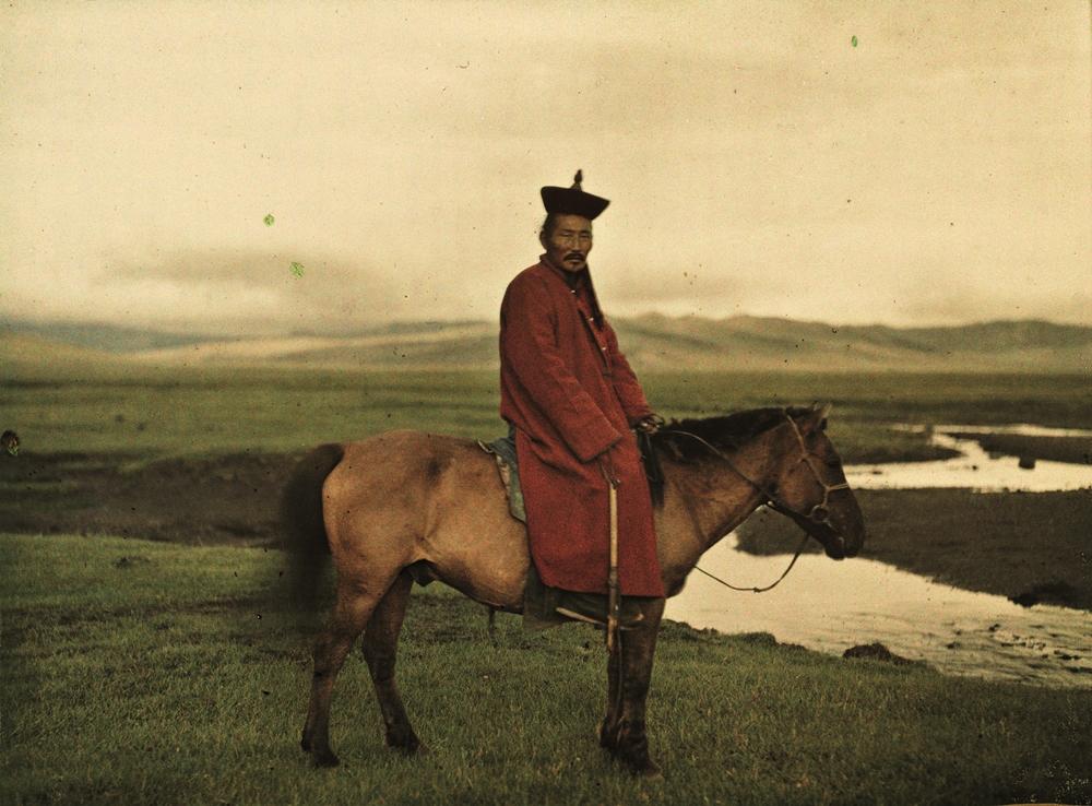 Albert Kahn, Les Archives de la planète Stephane Passet Mongolei, nahe Ulaanbaatar, wahrscheinlich Damdinbazar, die achte Inkarnation des mongolischen Jalkhanz Kuthugtu, 17. Juli 1913 © Musée Albert-Kahn, Departement des Hauts-de-Seine