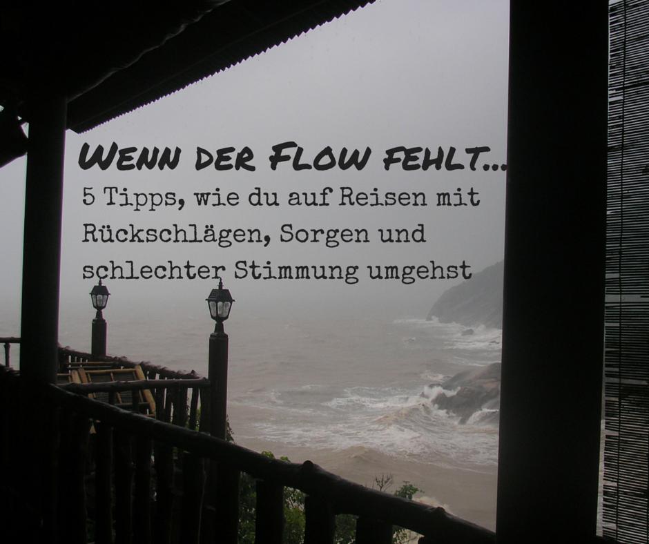 Wenn der Flow fehlt.