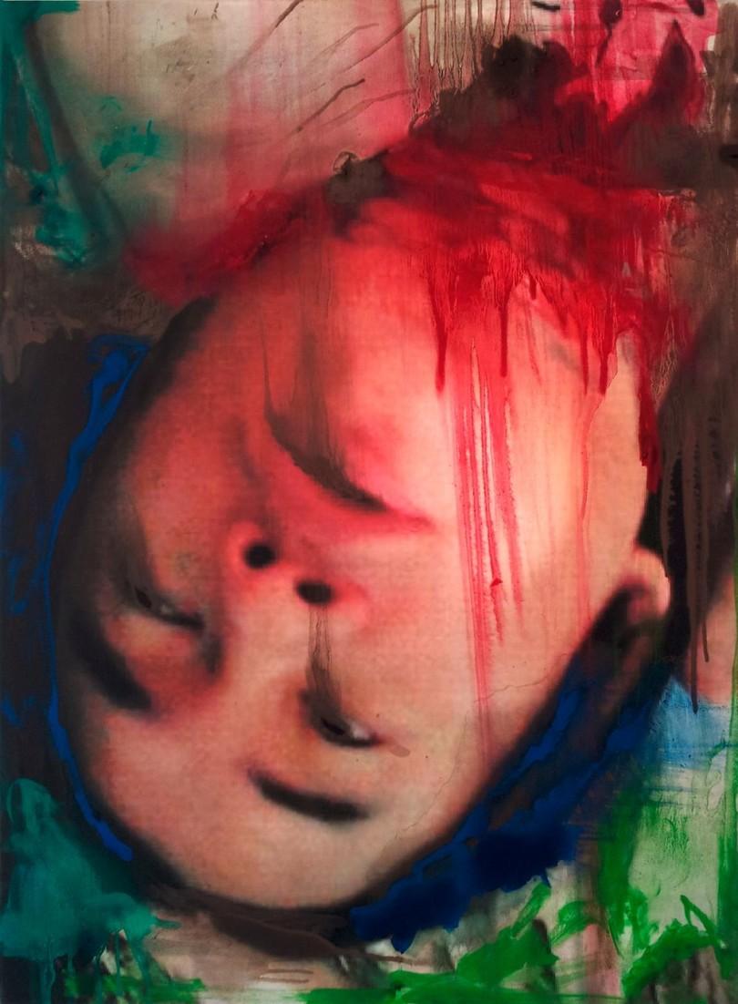 Thai Ho Pham, Caravaggios Träume, 2012, Ölmischtechnick auf Fotoleinwand, 100x75cm